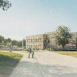 Skolen sett fra Gunnlaugs vei
